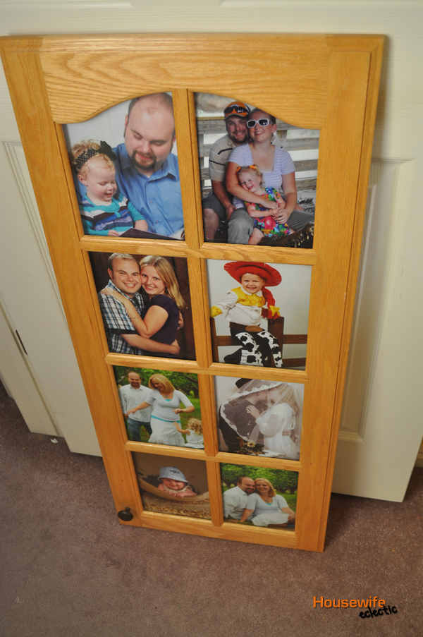 Picture Frames from Cabinet Doors and Windows - Housewife Eclectic
