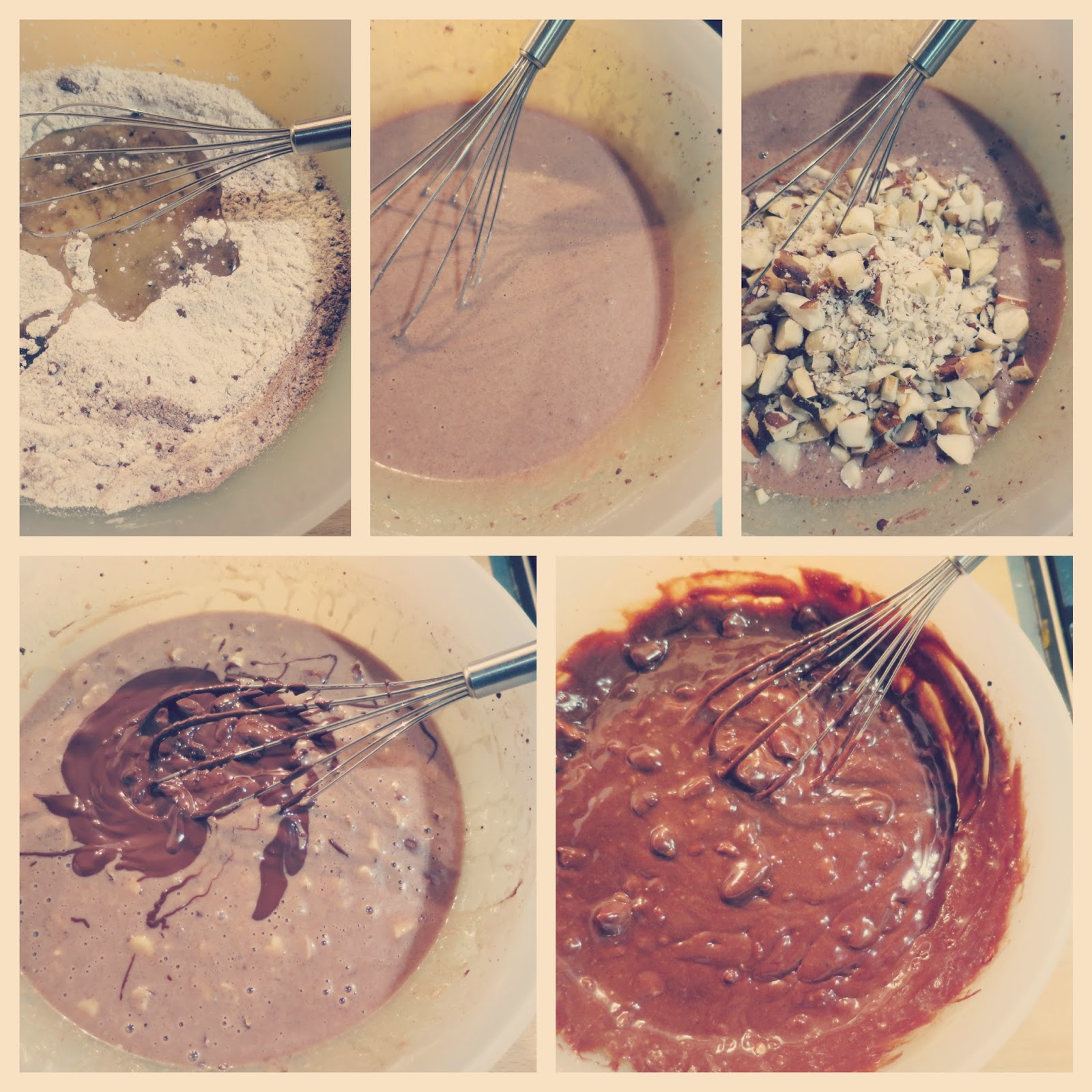 preparazione 2  brownies vegan