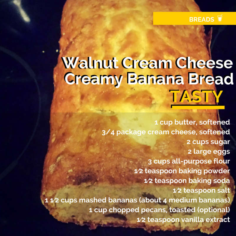 Need a creamy tasty nutty banana bread recipe?