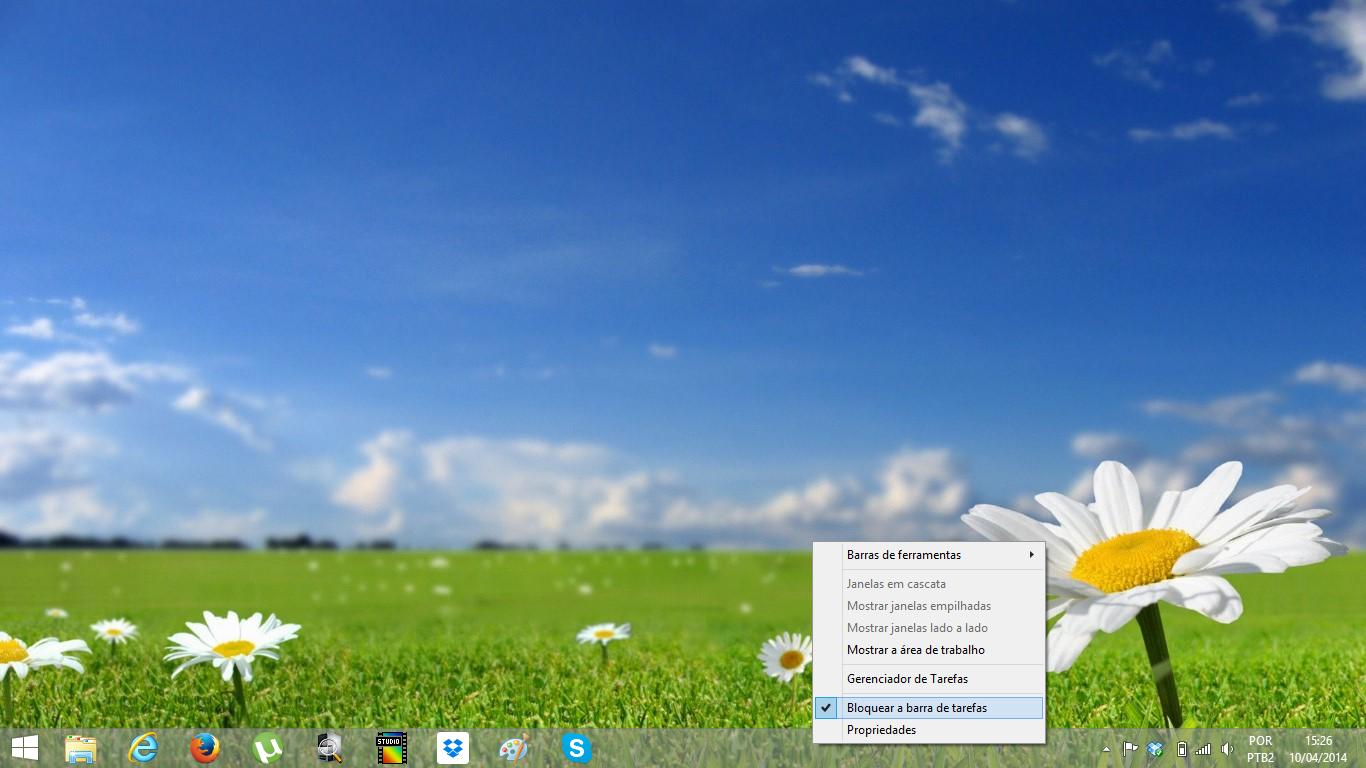 barra de tarefas do windows 8.1