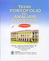 toko buku rahma: buku TEORI PORTOFOLIO DAN ANALISIS INVESTASI, pengarang jogiyanto hartono,penerbit BPFE Yogyakarta