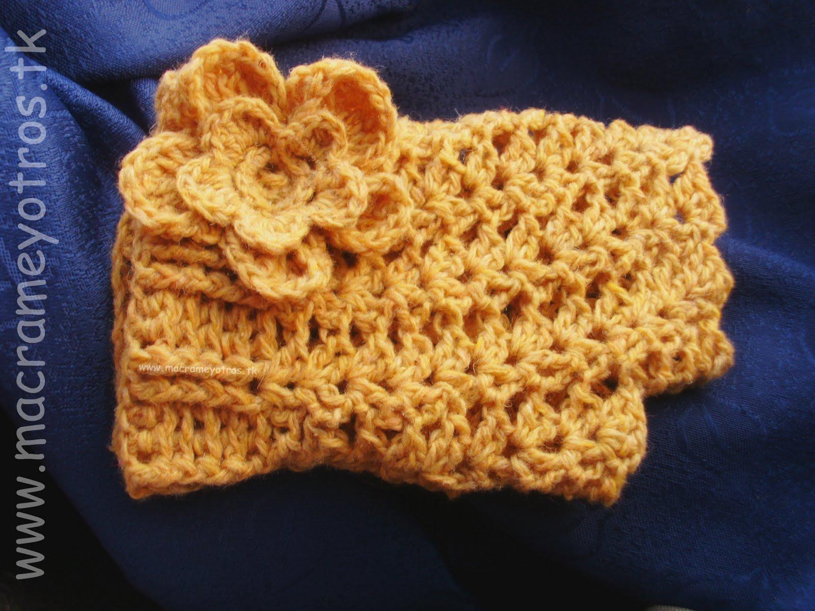 Famoso Guante Sin Dedos Patrón De Crochet Composición - Ideas de ...