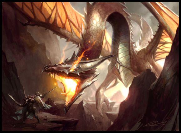mike lim daarken ilustrações fantasia medieval violência batalhas monstros arte conceitual video games Dragão