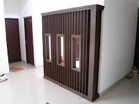 Sekat Rumah Bahan Panel Wood - Custom Furniture Semarang