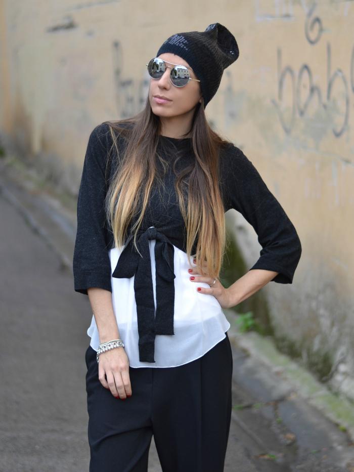 maglione con fiocco