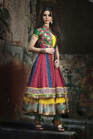 Multi Color Anarkali Suits