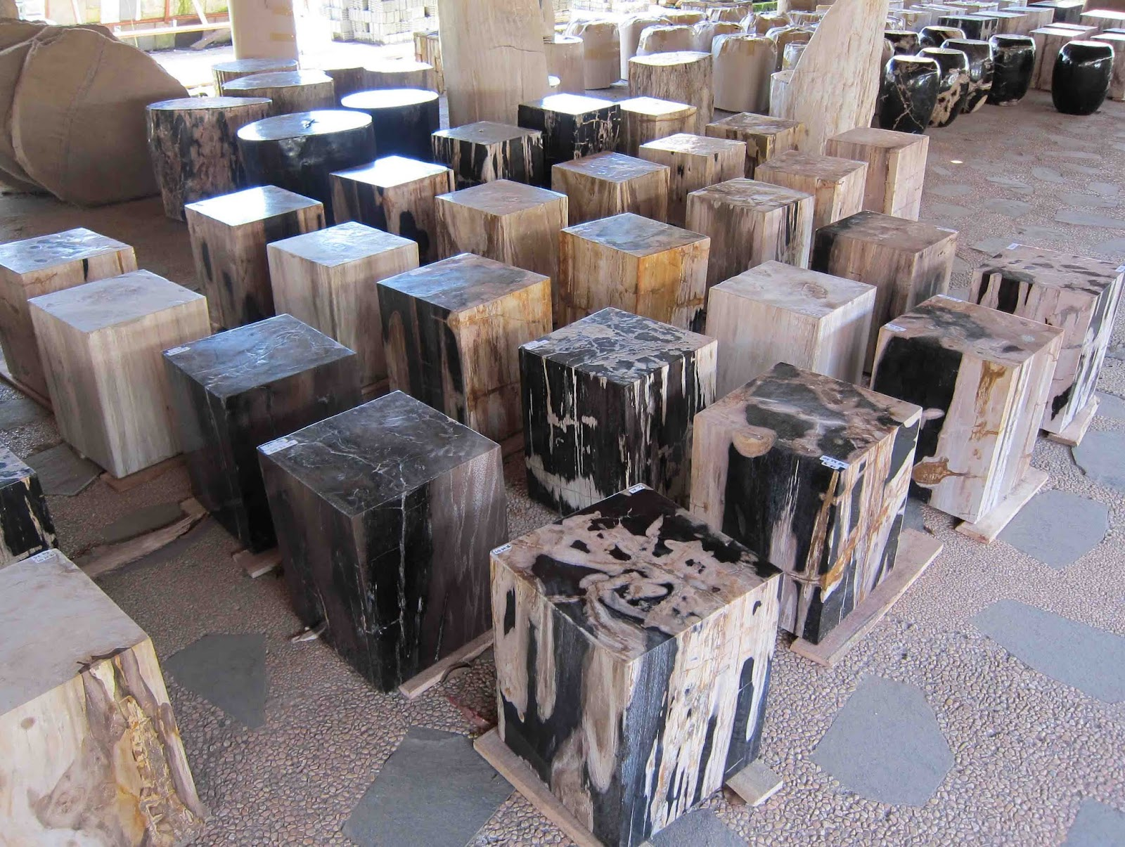Square petrified wood for Petrified wood furniture for sale