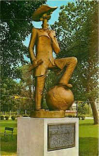 Andy Gump Statue circa 1969