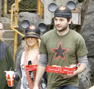 Aguilera and Bratman at Disneyland