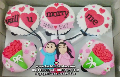 Cupcake Will You Marry Me Daerah Surabaya - Sidoarjo