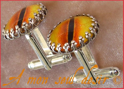 Boutons de Manchette Oeil Yeux Sauron Tolkien Cuff Button Yellow Eye Mordor Men Jewelry