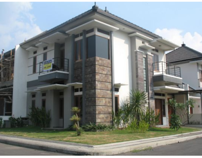 Tampak Depan Rumah Minimalis Modern 2 Lantai