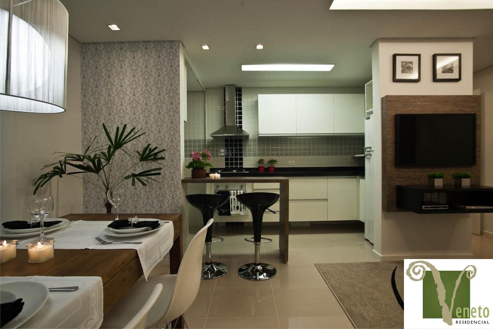quartos 1 banheiro sala para 2 ambientes cozinha área de serviço e  #50612D 1600x1067 Banheiro De Apartamento Decorado Pequeno