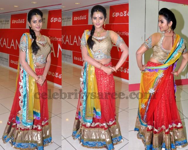 Manasa in Designer Lehenga