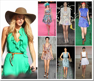 modelos de vestidos com cintos finos