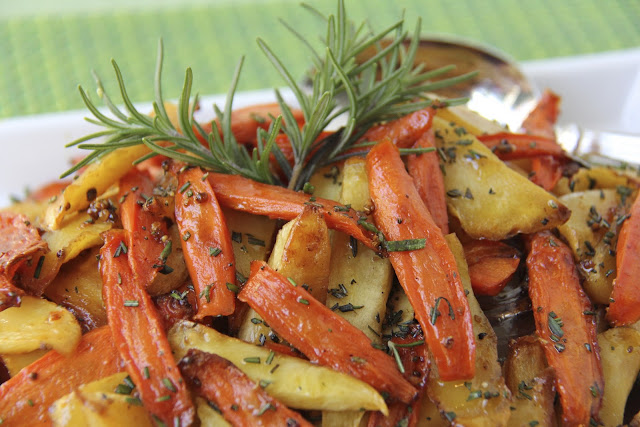 Simple Sticky Roasted Rosemary Root Veggies | The Café ...