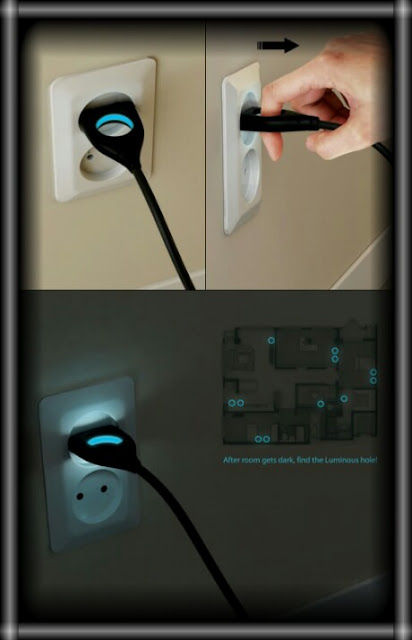 Электрическая вилка с подстветкой