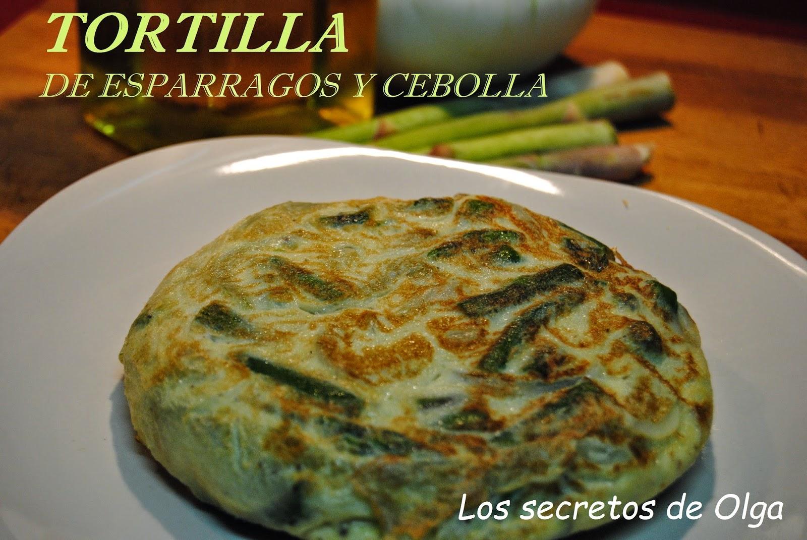 Los secretos de olga tortilla de esparragos y cebolla for Platos rapidos de cocinar