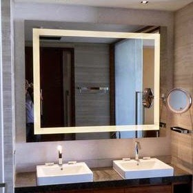 Bathroom Mirrors Back Light Est Room With White Chair And Large Window Color