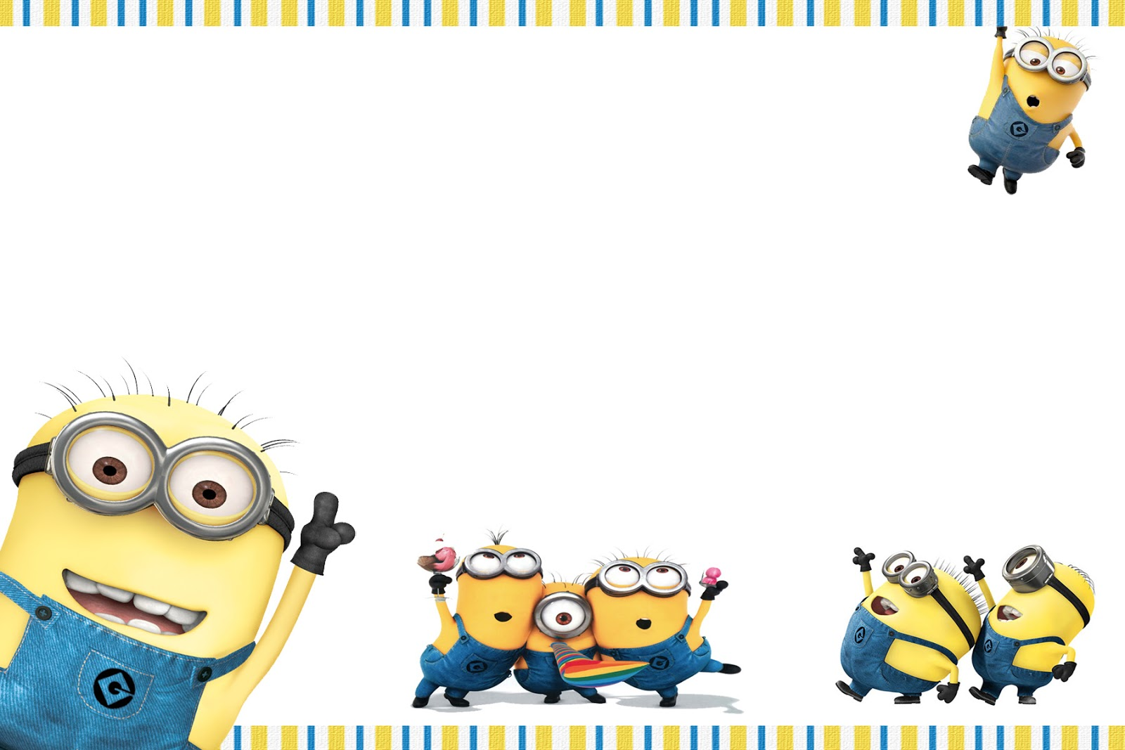 Effortless image pertaining to minions invitations printable