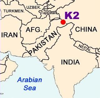 Localização do K2