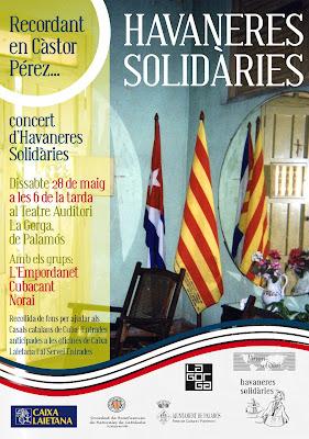 Cartell Cantada d'Havaneres Solidàries a Palamós