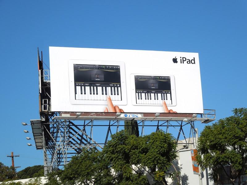 Apple iPad piano billboard