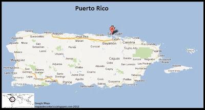 Mapa de Puerto Rico, Google Maps