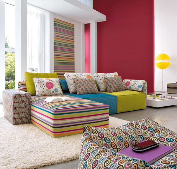Perfect Home: Colorful living rooms  Salas coloridas