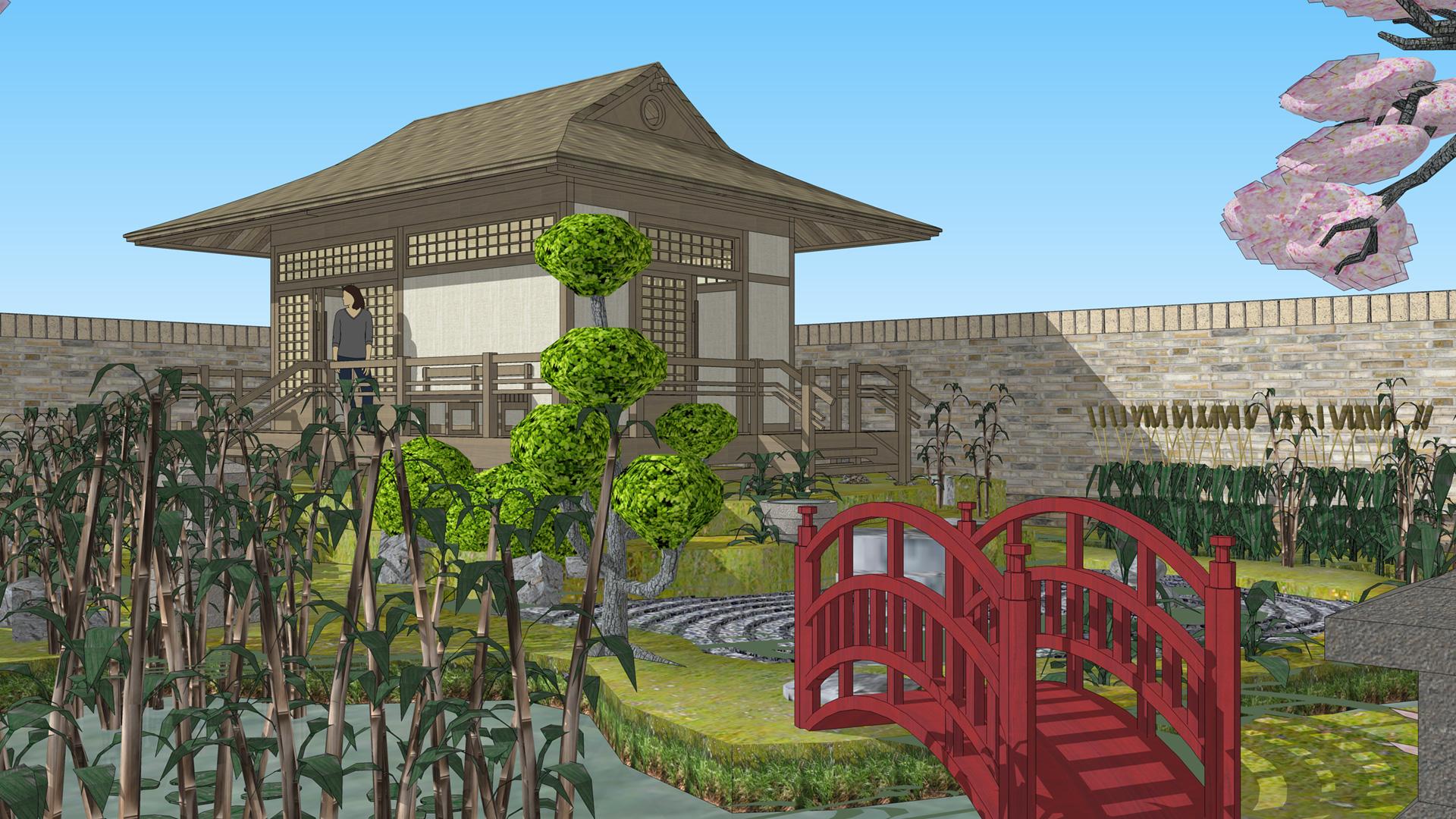 Sketchup 3d challenge june 2015 for Garden design sketchup 8
