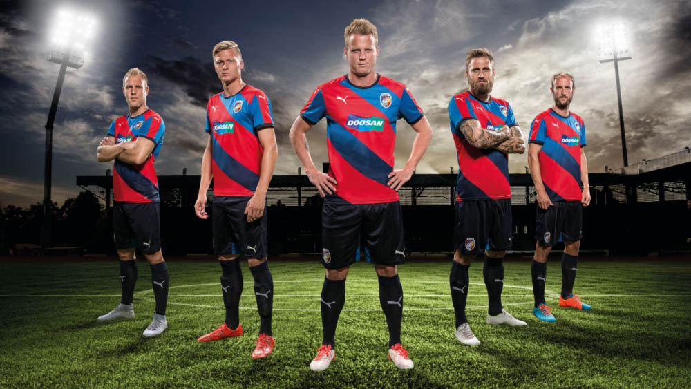 The New Fc Viktoria Plzen   Home Kit Introduces A Radical New Diagonal Stripes Design For The Czech Club Set To Be Worn In The   Champions