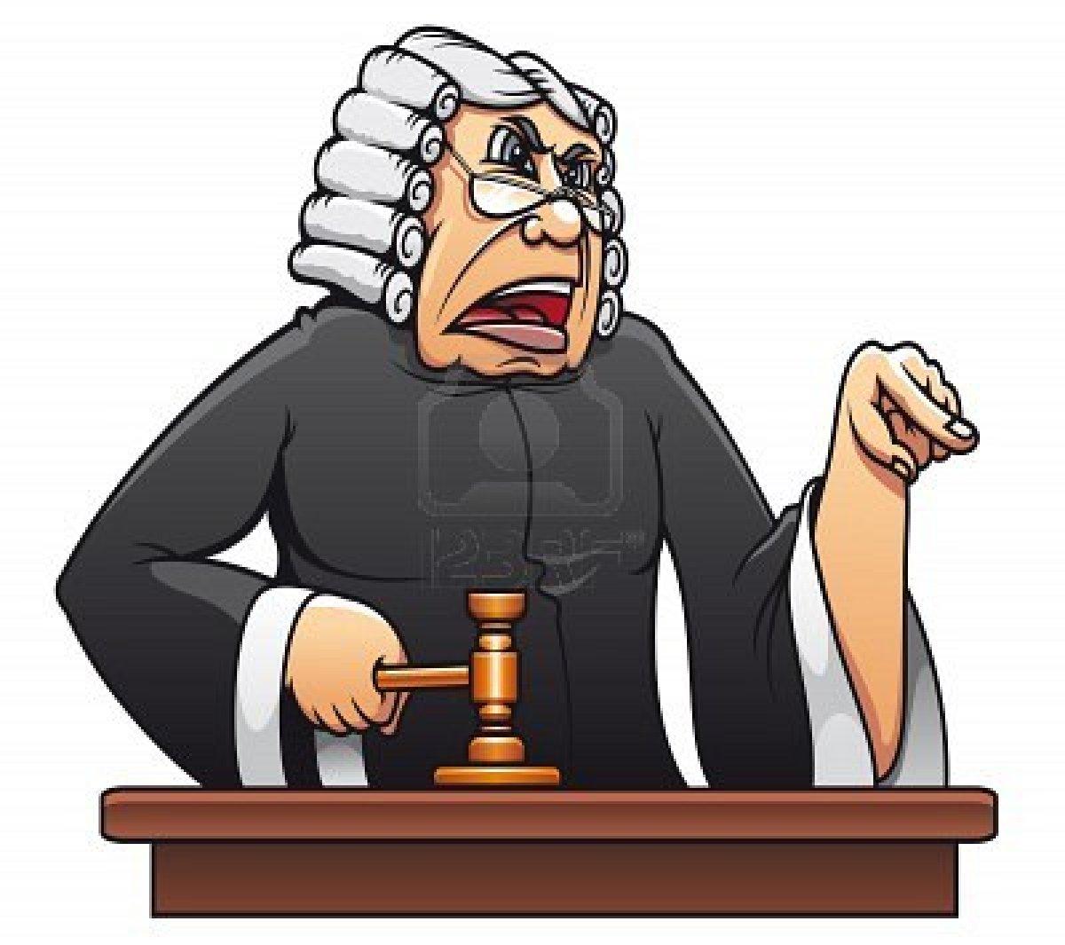 Judge Cartoon Clipart