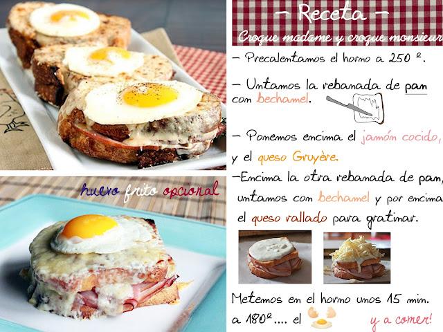 receta sandwich croque madame