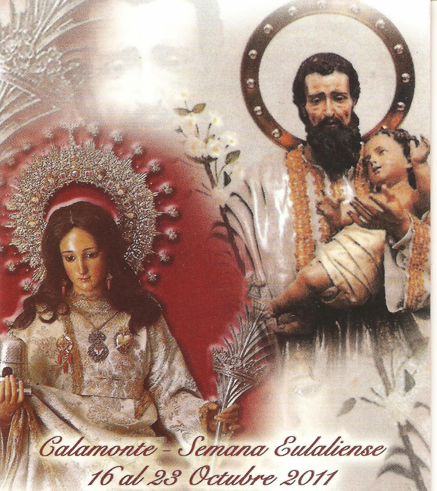 San José de Calamonte y Santa Eulalia de Mérida, estampa para el recuerdo.