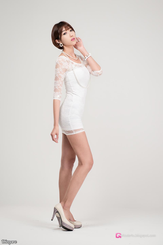 5 Yu Ji Ah - Lovely Ji Ah In Studio, 3 Outfits - very cute asian girl-girlcute4u.blogspot.com