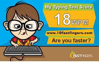 Πόσο γρήγορα γράφεις;