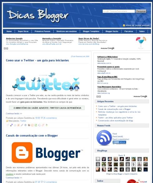 Visite Dicas Blogger