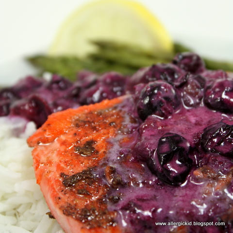 The Allergic Kid: Salmon with Blueberry Sauce