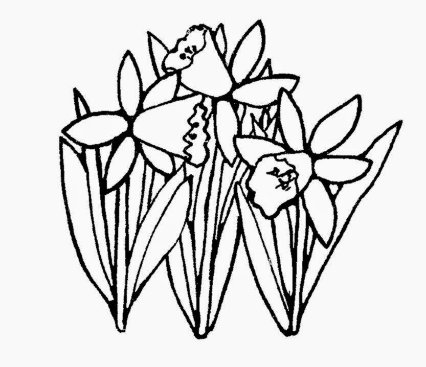Spring Flowers Clipart Black And White   Viewing Gallery