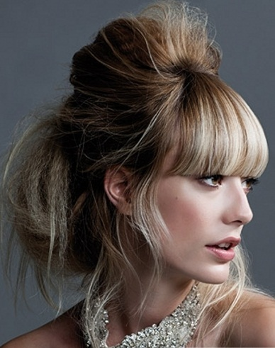 Lovely Messy Updo Hair Style 2014