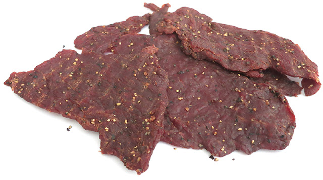 black pepppered beef jerky