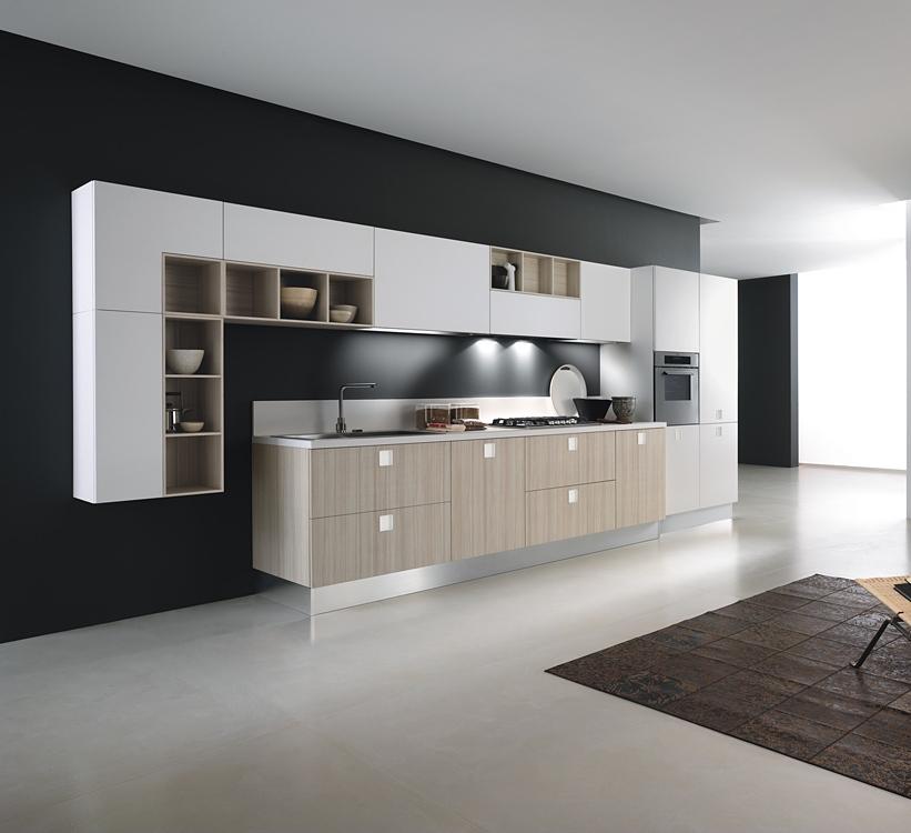 Cocinas lineales la combinaci n de colores cocinas con for Cocinas lineales de cuatro metros
