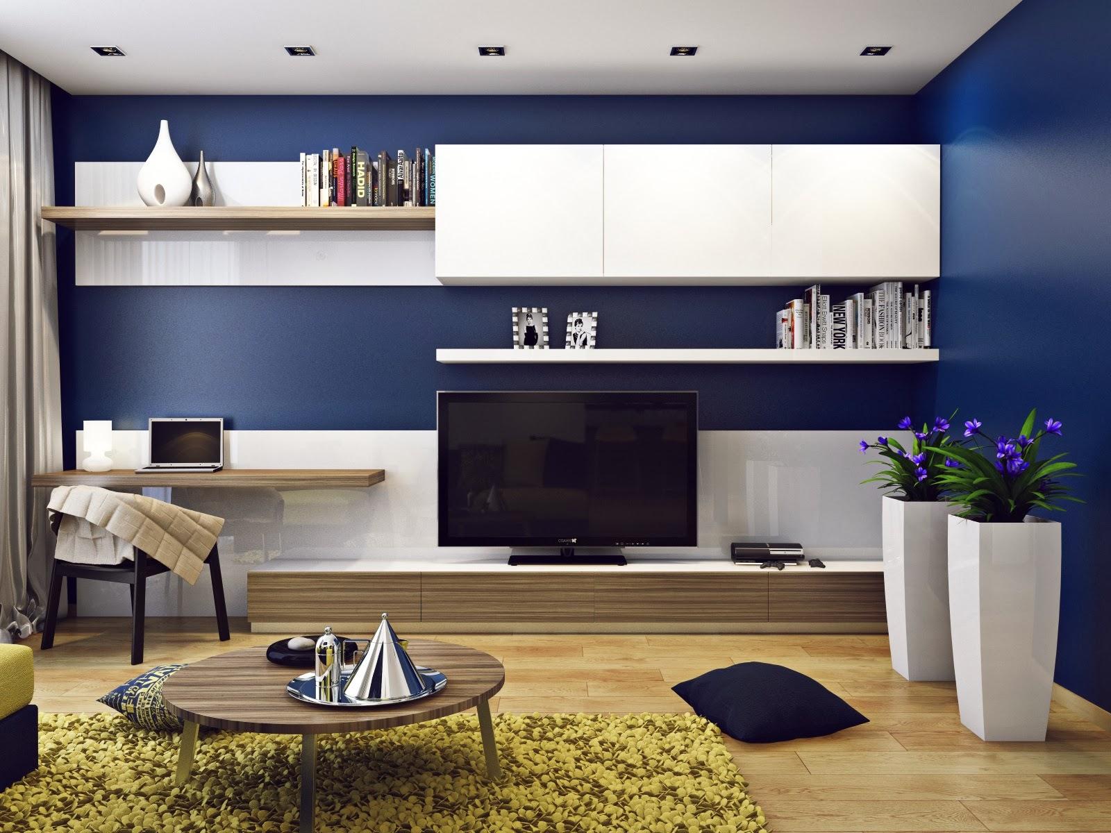 Стенки в гостиную с рабочим столом (23 фото): модели в зал п.