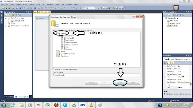 Creating a Database in Microsoft Visual Studio 2010,database tutorial in vb2010,database creation in vb2010