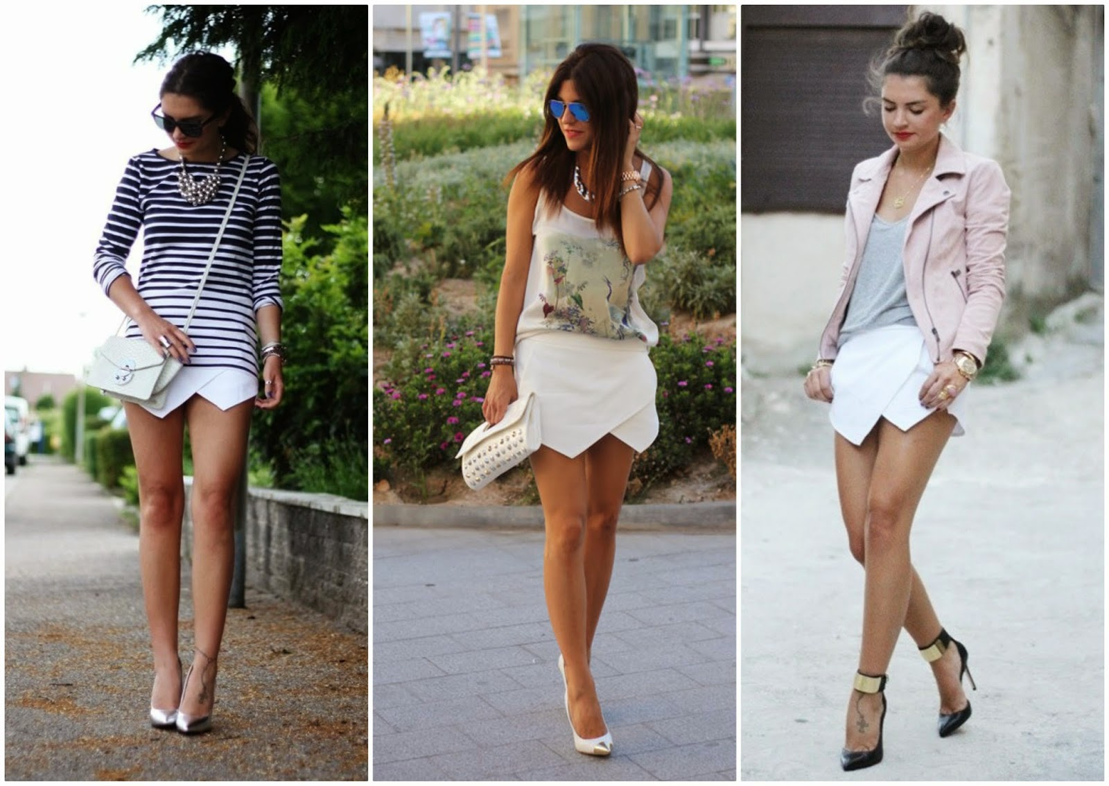 Zara white skort, skort outfit ideas, styling option