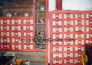 Traditional Chinese medicine counter