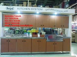 Kitchen set royal royal kitchen set royal kitchen systems for Kitchen set yang bisa dipindah