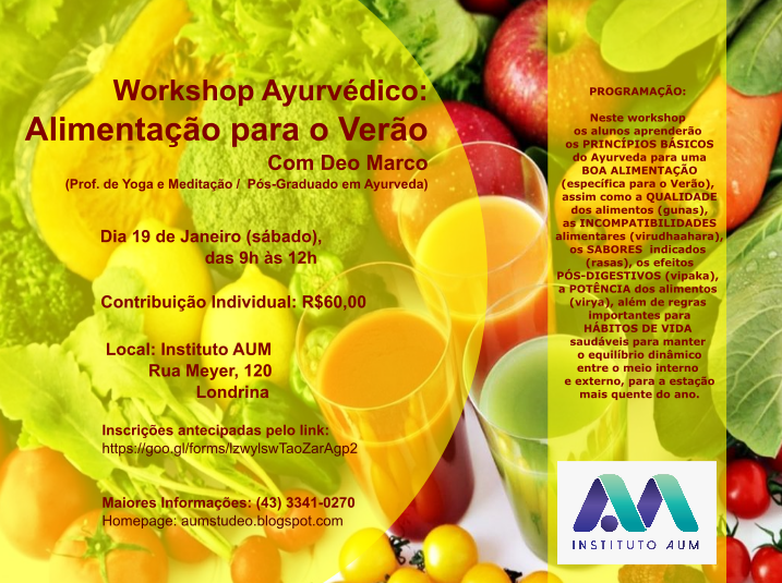 WORKSHOP AYURVÉDICO