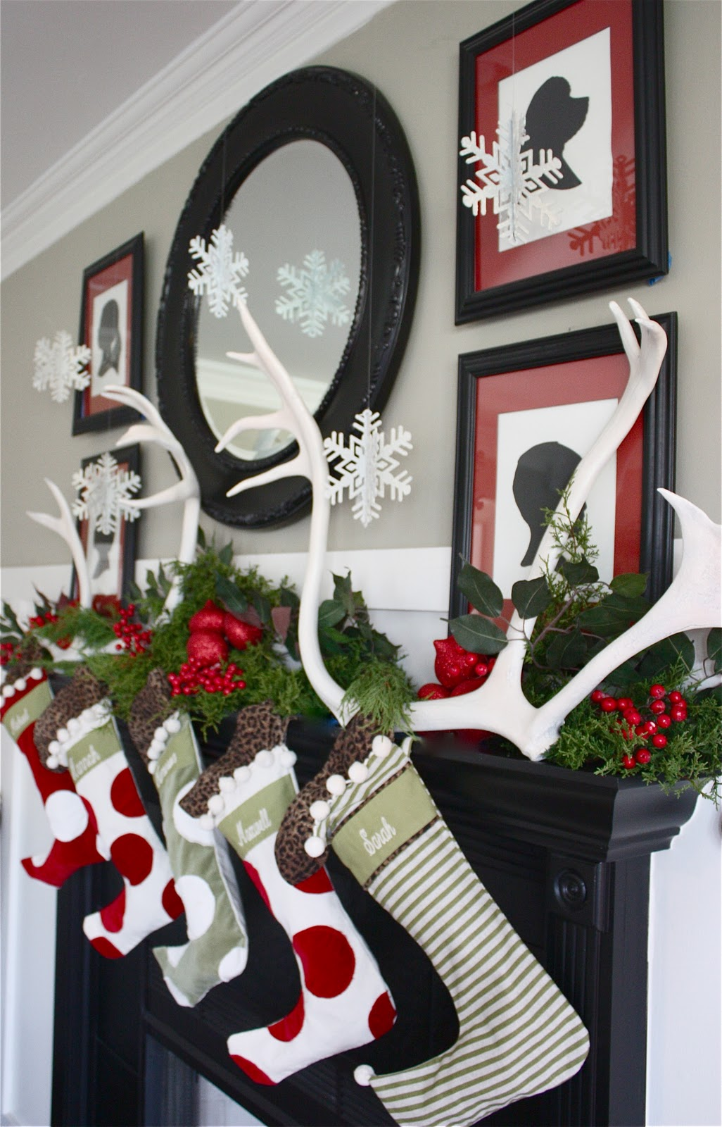 the yellow cape cod holiday home series our christmas mantle the greenery is a combination of fresh greens from the front yard and faux leaves from the dollar tree click here to see my post on using greens from your