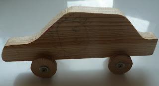 jak zrobić samochodzik z drewna